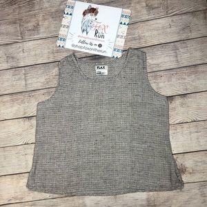 Flax Sleeveless Linen Top